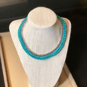Braided Crystal Collar Necklace C+I